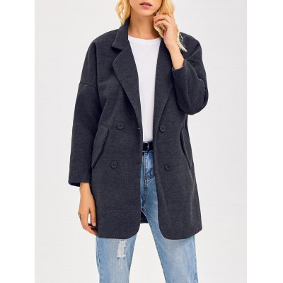 Lapel Collar Double Breasted Coat