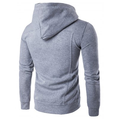 Buttoned Pleat Zip Up HoodieMens Hoodies &amp; Sweatshirts<br>Buttoned Pleat Zip Up Hoodie<br><br>Material: Cotton Blends<br>Clothing Length: Regular<br>Sleeve Length: Full<br>Style: Fashion<br>Weight: 0.440kg<br>Package Contents: 1 x Hoodie