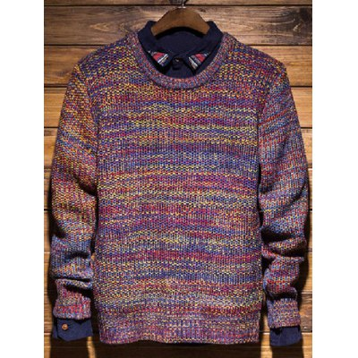 Knit Crew Neck Pullover Sweater