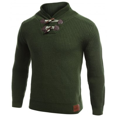 Flat Knitted Toggle Sweater