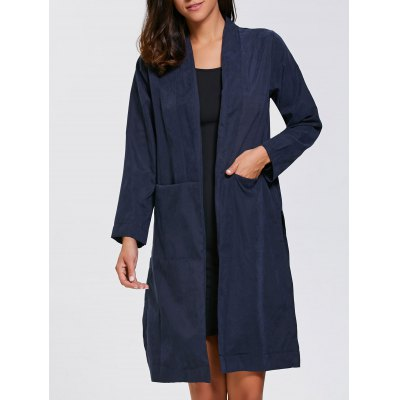 Long Duster Coat With Pocket