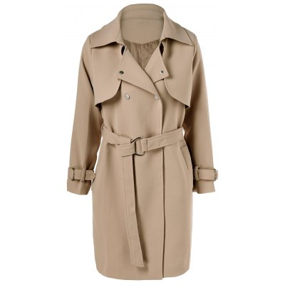 Belted Draped Trench Coat