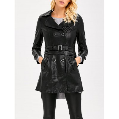 Convertible Faux Leather Jacket