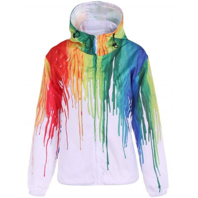 Hooded Spatter Paint Jacket