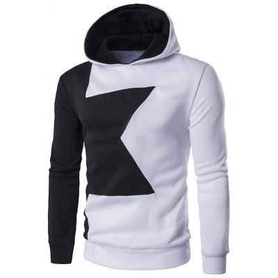 Long Sleeve Two Tone Pullover Hoodie
