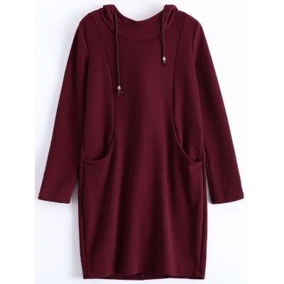 Plus Size Pullover Fleece Hoodie with Pockets