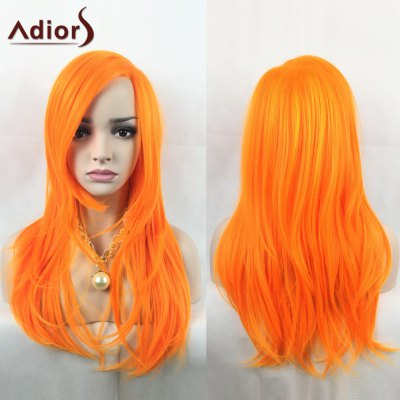 Adiors Long Side Parting Slightly Curled Party Synthetic Wig