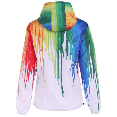 Hooded Splatter Paint Jacket