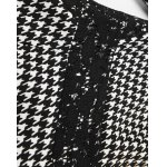 Round Collar Houndstooth Bodycon Dress for sale