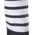 Striped Sleeve Flat Knitted Open Front Cardigan for sale