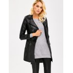 cheap Convertible Faux Leather Jacket