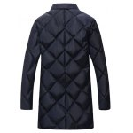 cheap Plus Size Argyle Thicken Lengthen Quilted Coat