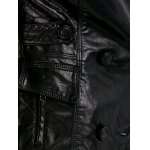 best Double Breasted Faux Leather Jacket