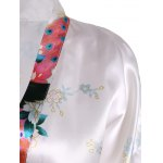 Blossom Print Satin Wrap Sleepwear deal