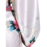 Blossom Print Satin Wrap Sleepwear for sale