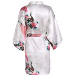 cheap Blossom Print Satin Wrap Sleepwear