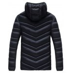 cheap Plus Size Detachable Hooded Zip Up Down Jacket