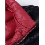 Plus Size Detachable Hooded Zip Up Down Jacket deal