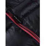 best Plus Size Detachable Hooded Zip Up Down Jacket