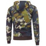 cheap Printed Pocket Zip Up Quilted Hoodie
