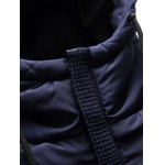 Zip Up Patch Design Hooded Padded Coat for sale
