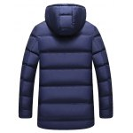 cheap Zip Up Patch Design Hooded Padded Coat