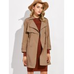 Button Up Drawstring Trench Coat deal