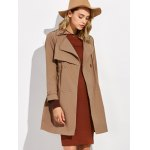 Button Up Drawstring Trench Coat for sale