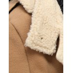 Hooded Thicken Flocking Single Breasted Wool Blends Coat deal