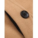 Hooded Thicken Flocking Single Breasted Wool Blends Coat photo