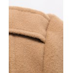 Hooded Thicken Flocking Single Breasted Wool Blends Coat for sale