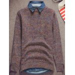cheap Knit Crew Neck Pullover Sweater