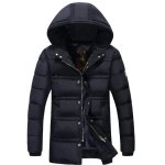 Plus Size Badge Hooded Thicken Lengthen Quilted Coat