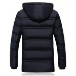 cheap Plus Size Badge Hooded Thicken Lengthen Quilted Coat