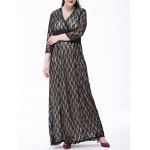Plus Size Ruched Insert Lace Maxi Dress