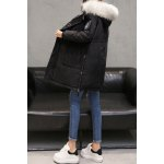 cheap Patched Hooded Down Coat