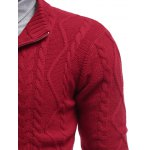 Stand Collar Cable Knit Half Zip Sweater for sale
