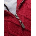 best Stand Collar Cable Knit Half Zip Sweater