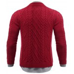 Stand Collar Cable Knit Half Zip Sweater deal