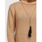 best Hollow Out Pullover Roll Neck Sweater