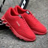 Lace-Up Letter Pattern Suede Athletic Shoes deal