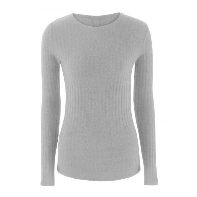 Lace Up Ribbed Knit Sweater