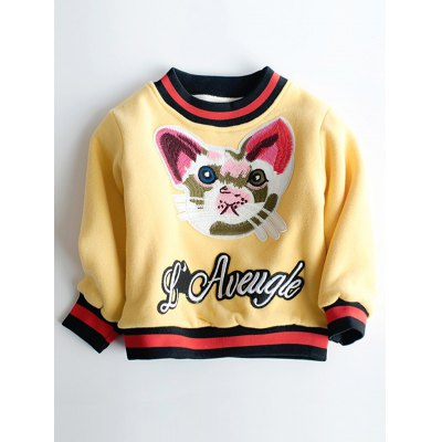 Kitten Embroidered Sweatshirt