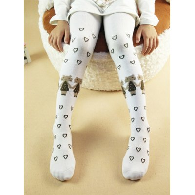 Heart Cartoon Jacquard Skinny Leggings