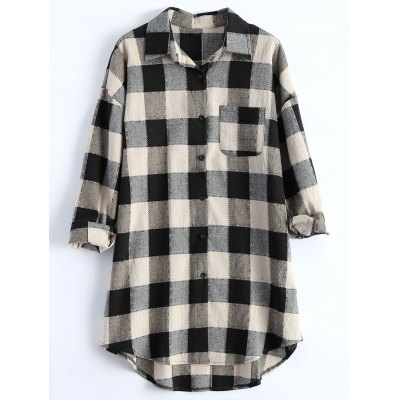 Plus Size Plaid Blouse