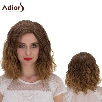 Adiors Medium Shaggy Curly Side Parting Cosplay Synthetic Wig