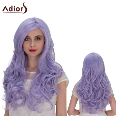 Adiors Long Shaggy Wavy Side Parting Cosplay Synthetic Wig