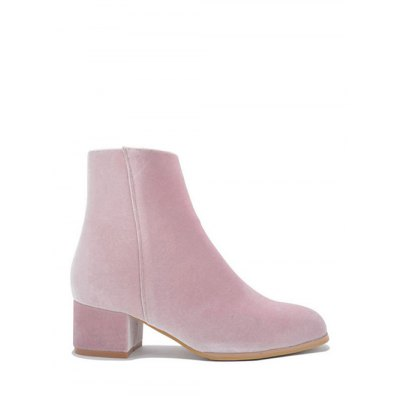 Round Toe Zip Ankle Boots