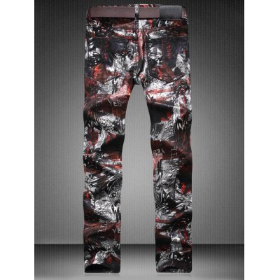 Plus Size Zipper Fly Color Block Abstract Print Straight Leg JeansPlus Size Bottoms<br>Plus Size Zipper Fly Color Block Abstract Print Straight Leg Jeans<br><br>Closure Type: Zipper Fly<br>Fit Type: Regular<br>Front Style: Flat<br>Material: Cotton, Jeans<br>Package Contents: 1 x Jeans<br>Pant Length: Long Pants<br>Pant Style: Straight<br>Style: Fashion<br>Waist Type: Mid<br>Weight: 0.4490kg<br>With Belt: No