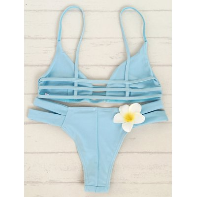 Fashion Cami Solid Color Bandage Bikini Set For WomenWomens Swimwear<br>Fashion Cami Solid Color Bandage Bikini Set For Women<br><br>Bra Style: Unlined<br>Elasticity: Elastic<br>Gender: For Women<br>Material: Nylon<br>Neckline: Spaghetti Straps<br>Package Contents: 1 x Bra  1 x Briefs<br>Pattern Type: Solid<br>Support Type: Wire Free<br>Swimwear Type: Bikini<br>Waist: Natural<br>Weight: 0.2700kg